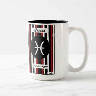 Zodiac Stripe Mug - Pisces Two-Tone Mug