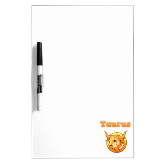 Zodiac Taurus illustration Dry Erase Board
