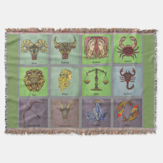 Zodiac Throw Blanket