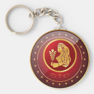 """Zodiac Virgo"" 2.25"" Basic Button Keychain"