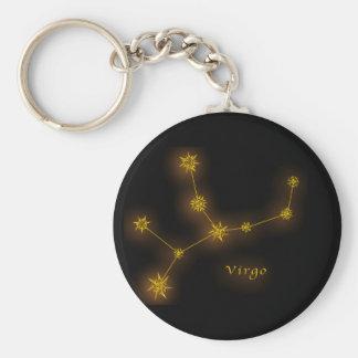 Zodiac - Virgo Basic Round Button Key Ring