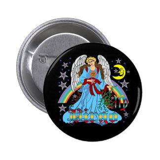 Zodiac Virgo V-1 6 Cm Round Badge