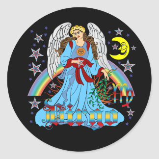 Zodiac Virgo V-1 Round Sticker