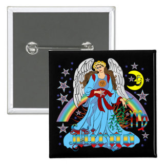 Zodiac-Virgo-V-1R 15 Cm Square Badge