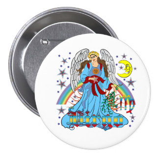 Zodiac-Virgo-V-1R 7.5 Cm Round Badge