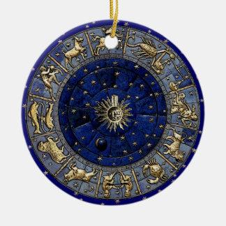 Zodiac Wheel Round Ceramic Decoration