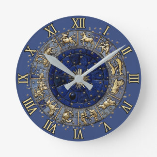 Zodiac Wheel Round Clock