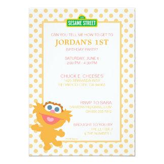 Zoe Baby Birthday 13 Cm X 18 Cm Invitation Card
