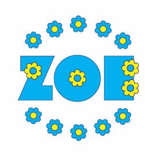 Zoe Flores Blue Acrylic Cut Outs