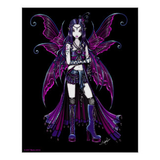 """Zoe"" Hot Pink Fairy Poster"