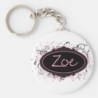 Zoe Nameplate Key Ring