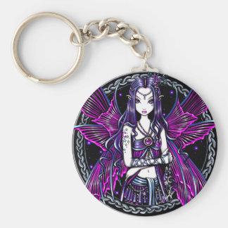 Zoe Pink Moon & Stars Fairy Keychain