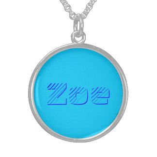 Zoe silvery Necklace in Blue