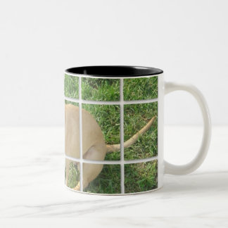 Zoe tiled photo Two-Tone coffee mug