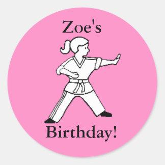 Zoe's Birthday Karate stickers