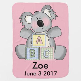 Zoe's Personalized Koala Baby Blanket
