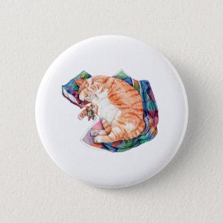 Zoe's Winter Nap 6 Cm Round Badge