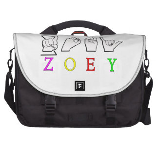 ZOEY FINGERSPELLED ASL SIGN NAME FEMALE BAGS FOR LAPTOP