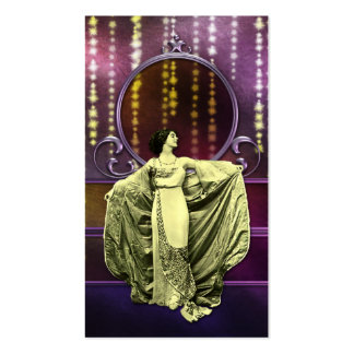 Zohara: Art Deco Woman in Yellow & Plum Business Card