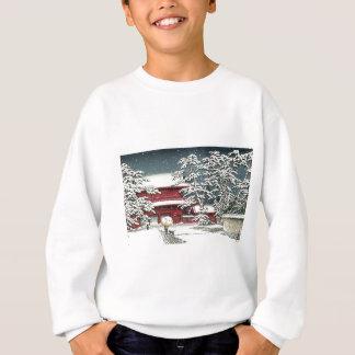 """""""Zojoji in Snow"""" by Kawase Hasui 川瀬 巴水 Sweatshirt"""