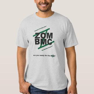 ZOM BMC, BLACK LETTERS on GREEN Z, MOTTO Tshirts