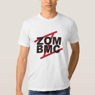 ZOM BMC Black letters on Red Z T Shirt