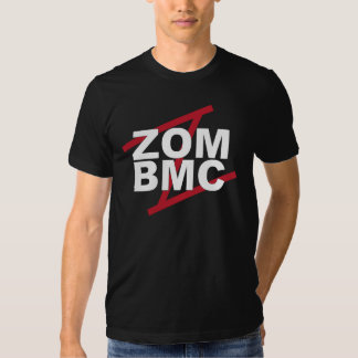 ZOM BMC  White letters on Red Z Tshirts