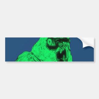 Zom-P Parrot Design Bumper Sticker