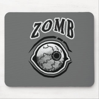 Zomb - Eye Ball! Black & White Mousepads
