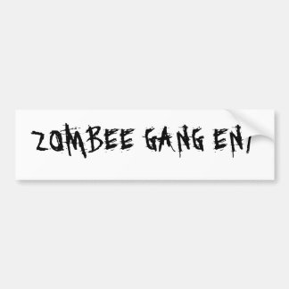 ZOMBEE GANG ENT BUMPER STICKER