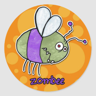 zombee round sticker
