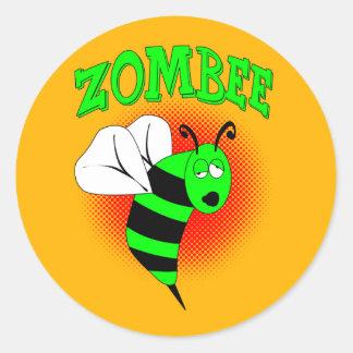 Zombee Round Stickers
