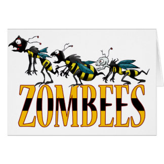 ZOMBEES GREETING CARD