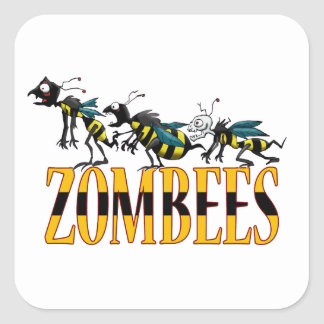 ZOMBEES SQUARE STICKER