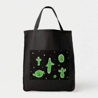 zombi cacti plant apocalypse grocery tote bag