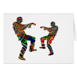 Zombi Dance HappyHolidays Printed SCRIPT Card