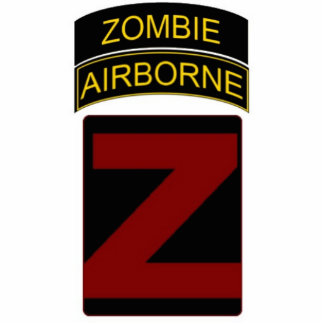 Zombie Airborne Stand Standing Photo Sculpture