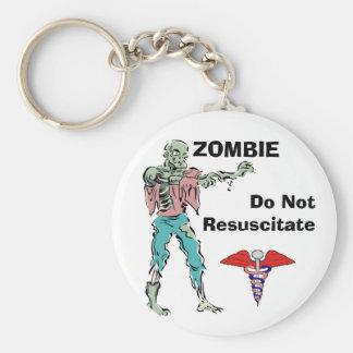 Zombie Alert Keychain Fob