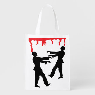Zombie and Blood Dripping Trick or Treat Bag