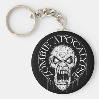 Zombie Apocalypse Basic Round Button Key Ring
