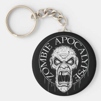 Zombie Apocalypse Basic Round Button Key Ring