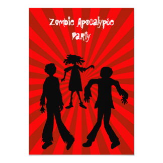 Zombie Apocalypse Birthday Party 13 Cm X 18 Cm Invitation Card