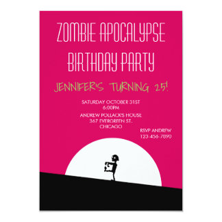 Zombie Apocalypse Birthday Party Card