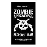 Zombie Apocalypse Business Cards