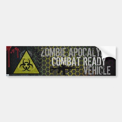 Zombie Apocalypse Combat Ready Vehicle Sticker Bumper Stickers