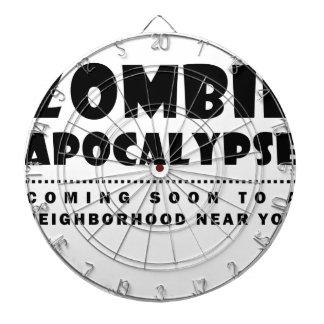 Zombie apocalypse dartboard