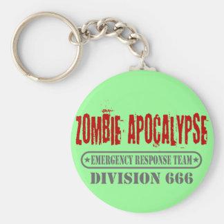 Zombie Apocalypse Division 666 Basic Round Button Key Ring
