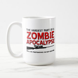 Zombie Apocalypse Excited Funny Mug