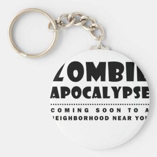 Zombie apocalypse key ring
