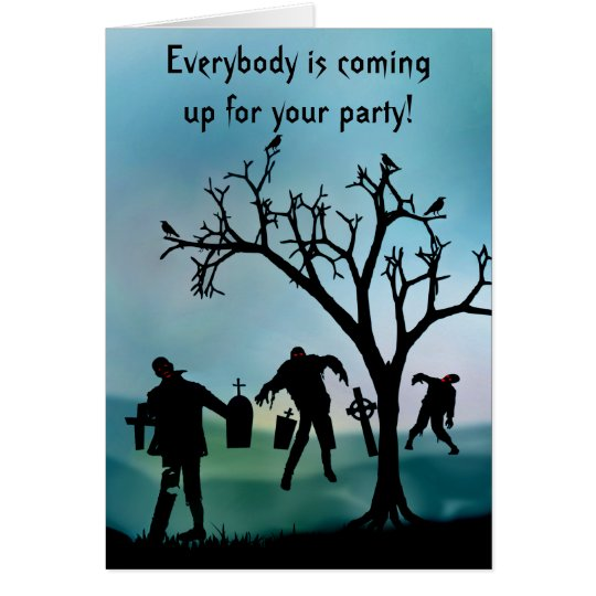 Zombie Apocalypse or Halloween Party Invitation